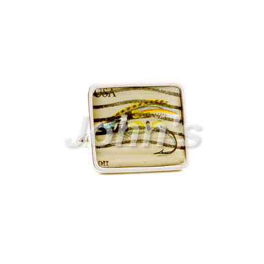 Fishing Lure Stamp Cufflink