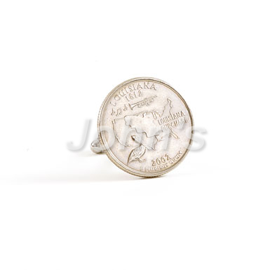 State of Louisiana Quarter Cufflink