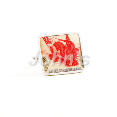 Battle of New Orleans Stamp Cufflink