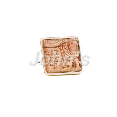 Louisiana Purchase Stamp Cufflink