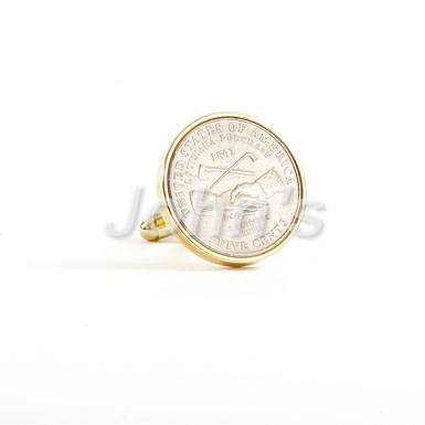 Louisiana Nickel Cufflink