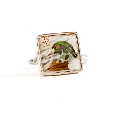 Wood Duck Stamp Cufflink