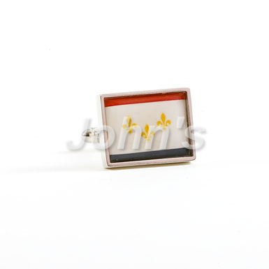 City of New Orleans Flag Cufflink