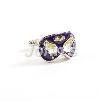 Royal Purple Mardi Gras Venetian Mask Cufflinks