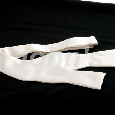 Ivory Satin Self-Tie Bow