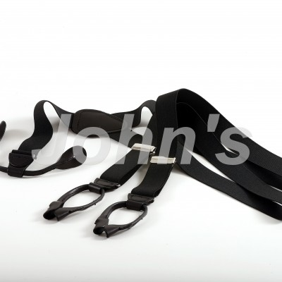 Black Leather End Suspenders