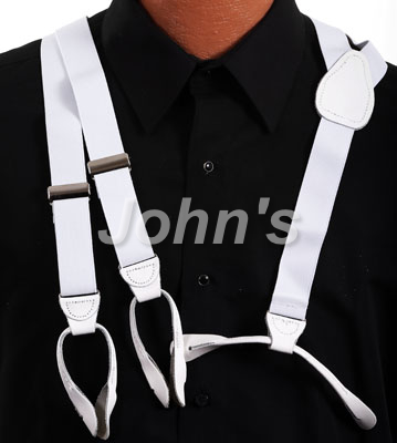 White Leather End Suspend