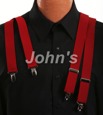 Red Clip Suspenders