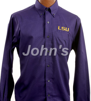 LSU Tigers Nailshead College Purple Dress Shirt