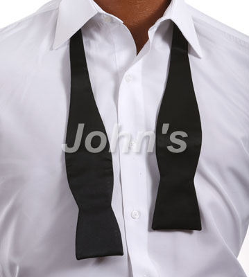 Black Silk Self-Tie Bow
