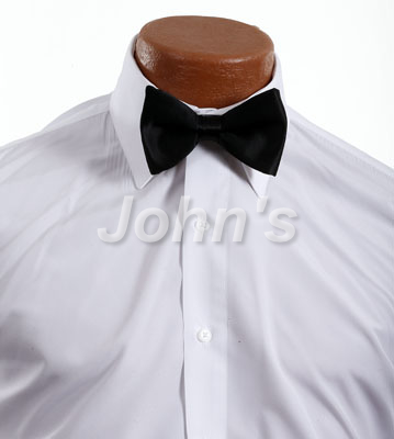 Black Silk Pre-Tied Bow