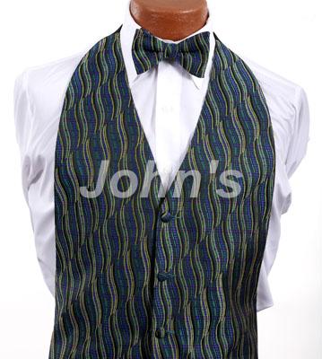 Mardi Gras Swirl Vest and Bow Tie Rental