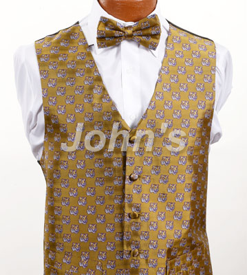 Gold LSU Vest and Bow Tie