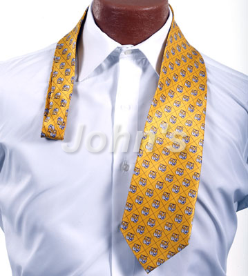 Gold LSU Tiger Head Suit Tie