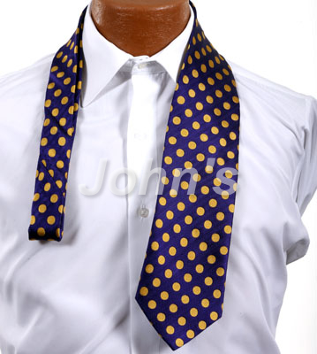 Purple and Gold Dot Suit Tie