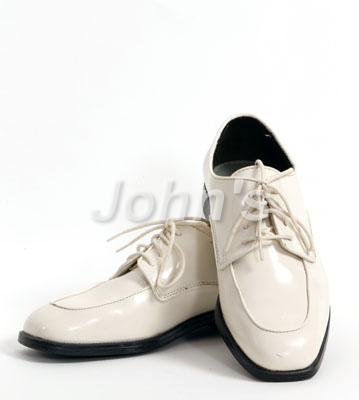 Ivory Square Toe Lace-up Shoe