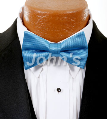 Aqua Marine Simply Solid Bow Tie