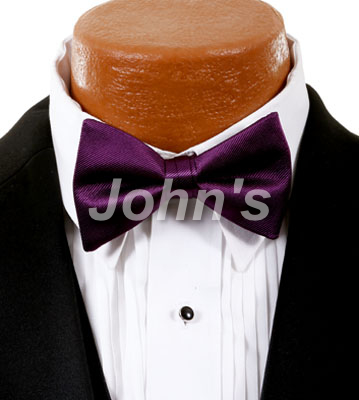 Aubergine Simply Solid Bow Tie