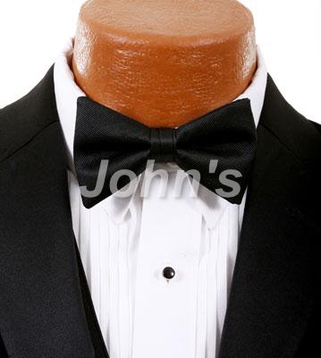 Black Simply Solid Bow Tie