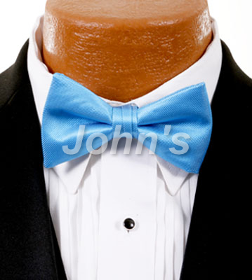 Blue Ice Simply Solid Bow Tie