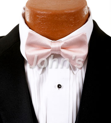 Blush Simply Solid Bow Tie