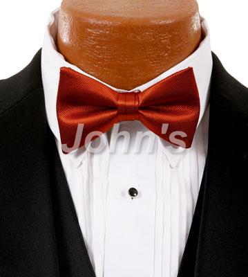 Burnt Orange Simply Solid Bow Tie