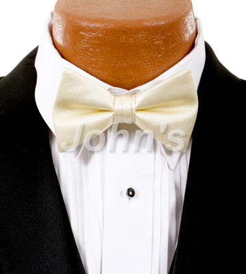 Butter Cream Simply Solid Bow Tie