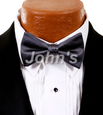 Charcoal Simply Solid Bow Tie