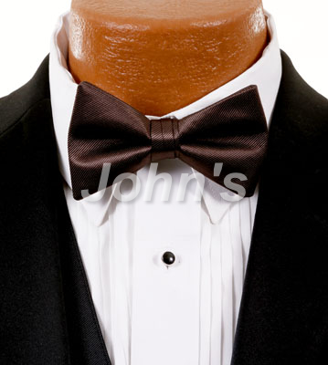 Chocolate Simply Solid Bow Tie
