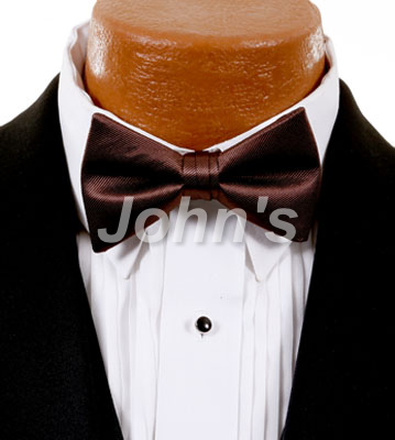 Cocoa Simply Solid Bow Tie