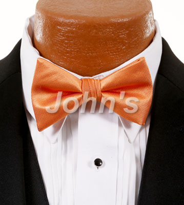 Dark Peach Simply Solid Bow Tie