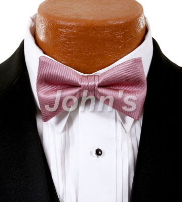 Dusty Rose Simply Solid Bow Tie