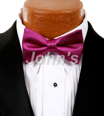 Fuchsia Simply Solid Bow Tie