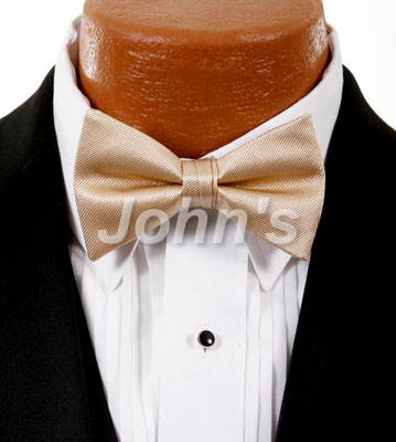 Golden Simply Solid Bow Tie