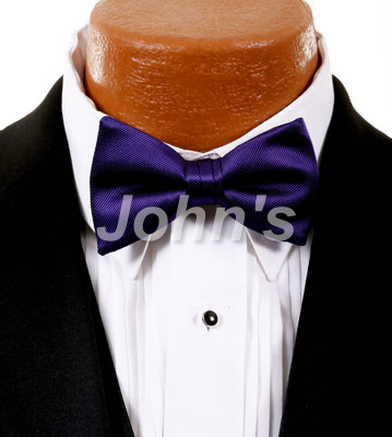 Grape Simply Solid Bow Tie