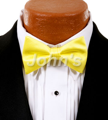 Lemon Simply Solid Bow Tie