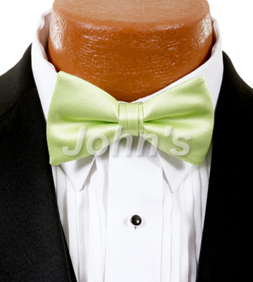 Lime Simply Solid Bow Tie