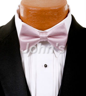 Loves Blush Simply Solid Bow Tie