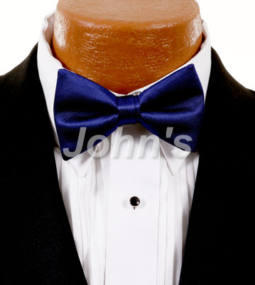Midnight Blue Simply Solid Bow Tie