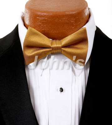 Midus Gold Simply Solid Bow Tie