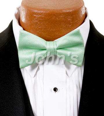 Mint Green Simply Solid Bow Tie