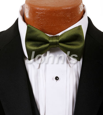 Moss Simply Solid Bow Tie