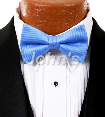 Neon Blue Simply Solid Bow Tie