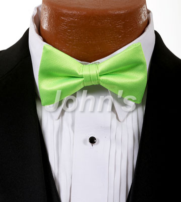 Neon Lime Simply Solid Bow Tie