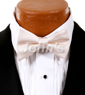 Nude Simply Solid Bow Tie
