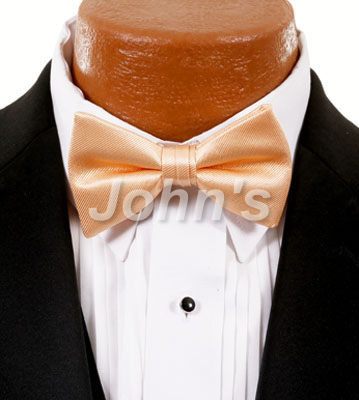Peach Simply Solid Bow Tie