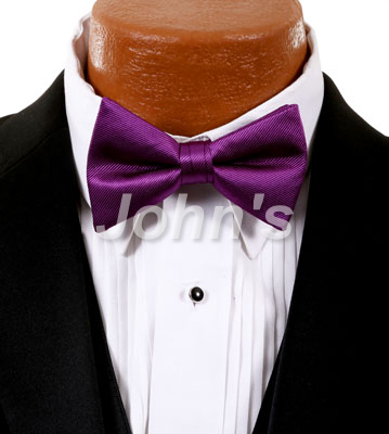 Persian Plum Simply Solid Bow Tie
