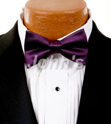 Plum Simply Solid Bow Tie