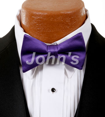 Purple Simply Solid Bow Tie