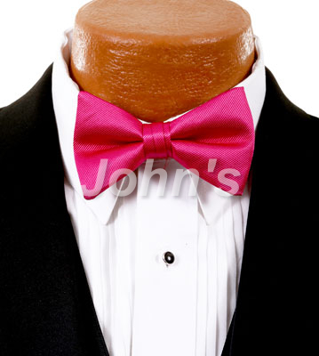 Raspberry Simply Solid Bow Tie